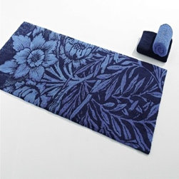 Habidecor Blue Bath Rug - The Habidecor Blue Rug is made of 100% combed cotton, is machine washable, and comes with a 3-year warranty.