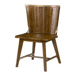 """Hammary - Flashback Desk Chair - """"A warm & welcoming collection using reclaimed materials. The contrast of the rustic wood on linear metal frames adds to the high end styling. Crafted of Reclaimed Hardwoods in a Rusty Red-Brown finish with Oiled Bronze color steel frames."""
