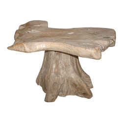 "Jeffan - Natura Coffee Table - Handcrafted from pieces of driftwood, the Natura coffee table is an eye catching and unique design, making each and everyone of these pieces an original. Features: -Material: driftwood.-Handcrafted.-Unique design.-20"" H x 24"" W x 31.5"" D, 110 lbs.-Natura collection.-Collection: Natura.-Distressed: No.-Wood Tone: Light Wood.-Powder Coated Finish: No.-Gloss Finish: No.-Wrought Iron: No.-Top Material: Wood -Top Material Details: Teak..-Base Material: Wood -Base Material Details: Teak..-Base Type: Pedestal.-Reclaimed Wood: No.-Non-Toxic: Yes.-UV Resistant: No.-Weather Resistant : No.-Scratch Resistant: No.-Stain Resistant: No.-Moisture Resistant: No.-Drop Leaf: No.-Shape: Oval.-Lift Top: No.-Tray Top: No.-Storage Under Tabletop: No.-Folding: No.-Magazine Rack: No.-Built In Clock: No.-Powered: No.-Nested Stools Included: No.-Legs Included: No.-Casters: No.-Exterior Shelves: No.-Cabinets Included: No.-Drawers Included: No.-Cable Management: No.-Adjustable Height: No.-Glass Component: No.-Upholstered: No.-Outdoor Use: No.-Swatch Available: No.-Commercial Use: Yes.-Recycled Content: No.-Eco-Friendly: No.-Product Care: Wipe clean with a dry cloth.-Hand Painted (Color: Natural): Not Painted.-Hand Painted (Color: White Wash): Yes.Dimensions: -Overall Product Weight: 110.-Overall Height - Top to Bottom: 20.-Overall Width - Side to Side: 32.-Overall Depth - Front to Back: 24.-Table Top Thickness: 6.-Table Top Width - Side to Side: 32.-Table Top Depth - Front to Back: 24.Assembly: -Assembly Required: No.-Additional Parts Required: No.Warranty: -Product Warranty: 1 year."