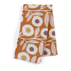 Orange & Gray Graphic Floral Custom Napkin Set - Our Custom Napkins are sure to round out the perfect table setting'whether you're looking to liven up the kitchen or wow your next dinner party. We love it in this modern graphic floral print in tangerine orange, gray & white that will put some spring in your decor's step