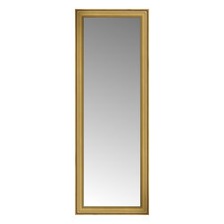 """Posters 2 Prints, LLC - 29"""" x 77"""" Arqadia Gold Traditional Custom Framed Mirror - 29"""" x 77"""" Custom Framed Mirror made by Posters 2 Prints. Standard glass with unrivaled selection of crafted mirror frames.  Protected with category II safety backing to keep glass fragments together should the mirror be accidentally broken.  Safe arrival guaranteed.  Made in the United States of America"""