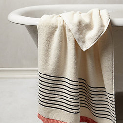 Bay Shore Towel - Ooh, this is a nice towel! The color mixture and subtle striping are very lovely, and it comes in a large size. There's something about a nice big towel that makes the sense of bath time relaxation last just a couple minutes longer.