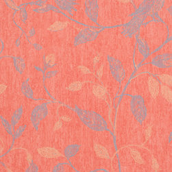 Romosa Wallcoverings - Amaranth Red / Blue Nature Floral Humming Bird Wallpaper - - Color: Amaranth Red / Blue