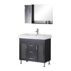 "Design Element - Design Element DEC021 Milan 36"" Single Sink Vanity Set in Espresso - Design Element DEC021 Milan 36"" Single Sink Vanity Set in Espresso"
