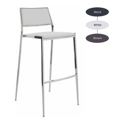 Aaron Stackable Counter Stool, Set of 2, White