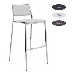 Nuevo Living - Aaron Stackable Counter Stool, Set of 2, White - The modern counter stool is often the best seat in the house. As friends and family gather around the kitchen island for meals and drinks, you'll treasure stylish and comfortable seating options. Pick among three chic neutrals for your upholstery and you'll be entertaining in style.