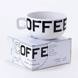 "HUGE 16 Oz ""Coffee"" Cup / Mug in Fun Gift Box - Clever design will hold lots of your favorite beverage. Great gift for the coffee lover in your life."