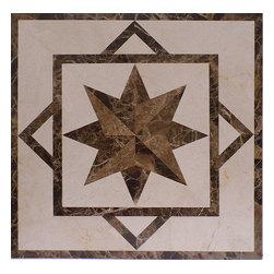 Medallions Plus - Marble Floor Medallion Square Medallion Marble Tile Inlay - Item Description