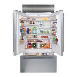 "Inside the Sub-Zero 42"" French door - Sub-Zero's new 42"" French door has nearly 25 cubic feet of combined refrigerator and freezer capacity. That's more usable space than any built-in French door model."