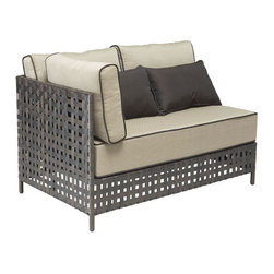 Pinery Chaise by Zuo Modern - Enjoy your patio with elegance all year round with the wonderful Pinery outdoor collection. Frame is constructed from aluminum and the weave is UV treated polypropylene.