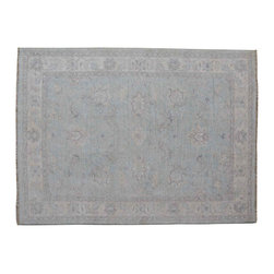 Peshawar Oriental Rug, 4'X6' Hand Knotted 100% Wool Stone Wash Area Rug SH11963 - Hand Knotted Oushak & Peshawar Rugs are highly demanded by interior designers.  They are known for their soft & subtle appearance.  They are composed of 100% hand spun wool as well as natural & vegetable dyes. The whole color concept of these rugs is earth tones.