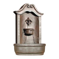 The Lafayette Wall Fountain, Weathered Bronze - The Lafayette Wall Fountain is a centerpiece of serenity and beauty of nature for your garden or outdoor space. This fountain brings tranquility and serenity through its flowing sounds and a feeling of being one with nature.