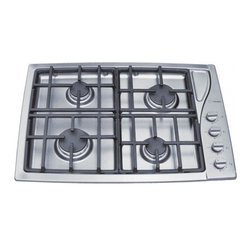 """Scholtes - TG304IXGHNA 30"""" Sealed Burner Gas Cooktop With 4 Burners  Cast Iron Continuous G - The Scholtes 30 762 cm gas cooktop features two easy-to-remove and clean die cast grates Four powerful burners of optimal size provides more than 42000 BTUs Despite the unique curved aesthetic lines of the surface the cooktop cut out dimensions are s..."""