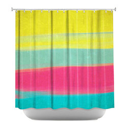 DiaNoche Designs - Shower Curtain Artistic - Skies The Limit VI - DiaNoche Designs works with artists from around the world to bring unique, artistic products to decorate all aspects of your home.  Our designer Shower Curtains will be the talk of every guest to visit your bathroom!  Our Shower Curtains have Sewn reinforced holes for curtain rings, Shower Curtain Rings Not Included.  Dye Sublimation printing adheres the ink to the material for long life and durability. Machine Wash upon arrival for maximum softness on cold and dry low.  Printed in USA.