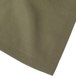 """Huddleson - Sage/Olive-Green Linen Table Runner - """"Sage Olive Green Linen Table Runner.  Not all linens are created equal. The Italian linen Huddleson uses to make our napkins, tablecloths, placemats and runners is the finest quality available. The result is a collection of table linens that look better, feel better, absorb better, wash better and last longer than the others. These linen tablecloths are perfect for everyday dining or to dress the table for a special occasion.  Ever versatile, it looks beautiful with any style or pattern of napkin or china.  Machine washable, this tablecloth gets even softer and more beautiful with use.  You're only committing to making mealtimes a little more special."""