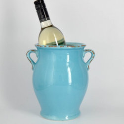 Mexican Tile Wine Cooler - The shape of this Mexican tile wine cooler is gorgeous.