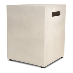 Real Flame - Real Flame Mezzo Square Antique White 20-pound LP Tank Holder - Define your space with the clean design of a Real Flame Mezzo LP Tank Cover. Cast from a high performance, lightweight fiber-concrete with an outdoor-safe finish, this tank cover conceals your 20-pound LP tank even while in use.