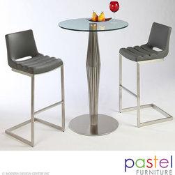 Pastel Furniture Alexandria Table with Emily Barstool Set - Alexandria Pub Table with Emily Barstool Set