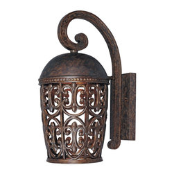 """Designers Fountain - Designers Fountain Amherst-DS Outdoor Wall Mount Light Fixture in Burnt Umber - Shown in picture: 8"""" Wall Lantern Dark Sky in Burnt Umber finish; DarkSky Fixture"""