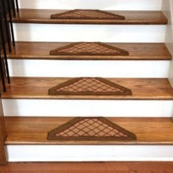 "Dean Flooring Company - Dean Washable Non Skid Carpet Stair Treads - Beige Checkerboard Hexagon (13) - Dean Washable Non Skid Carpet Stair Treads - Beige Checkerboard Hexagon (Set of 13) : Washable non skid carpet stair treads from Dean Flooring Company.  Size:  Approximately 22.5"" x 10.5"".  Nylon carpeting with latex backing bound with color matching binding tape.  Helps prevent slips on your hardwood stairs.  Protects your high traffic flooring from wear and tear.  Unique attractive design.  Great price.  Install with our double-sided mesh tape (sold separately)."