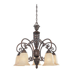 Designers Fountain - Designers Fountain 97586-BU 5-Light Down Chandelier - Designers Fountain 97586-BU 5-Light Down Chandelier