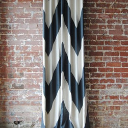 Patterned Drapes / Curtains - Large scale chevron draperies / curtains. Made in any size you need! Contact us at info@marthaandash.com to get started.
