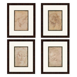 Paragon - Portraits PK/4 - Framed Art - Each product is custom made upon order so there might be small variations from the picture displayed. No two pieces are exactly alike.