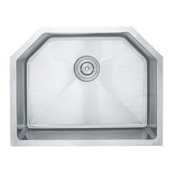 """Kraus - Kraus 23"""" Undermount Single Bowl 16 Gauge Stainless Steel Sink Combo Set - Add an elegant touch to your kitchen with a unique and versatile undermount sink from Kraus"""