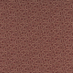 Burgundy and Beige Geometric Rectangles Durable Upholstery Fabric By The Yard - P9435 is great for residential, commercial, automotive and hospitality applications. This contract grade fabric is Teflon coated for superior stain resistance, and is very easy to clean and maintain. This material is perfect for restaurants, offices, residential uses, and automotive upholstery.