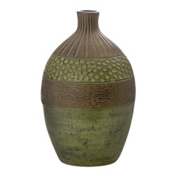 New Rustics Home LLC - New Rustics Home Ceramic Clay Pottery - Unique Green Brown and Black Vase - Larg - Shop for Decorative Bowls and Vases from Hayneedle.com! About New Rustics Furniture CompanyAward-winning New Rustics is an innovative company founded by designers and furniture experts. A mix of old and new world influences New Rustics presents collections that feature handmade solid wood furniture earthenware clay pottery and decorative stone and iron accessories. Colors textures and sustainable materials abound throughout the creations of New Rustics and all of them will add character and style to your home.