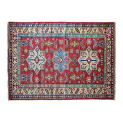 Area Rug, 3'X5' Super Kazak Hand Knotted 100% Wool Tribal Design Rug SH11167 - This collections consists of well known classical southwestern designs like Kazaks, Serapis, Herizs, Mamluks, Kilims, and Bokaras. These tribal motifs are very popular down in the South and especially out west.