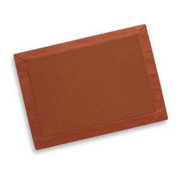 Foreston Trends - Jubilee Placemet - Let this placemat and napkin dress up your table in sleek style. Placemat has a textured design accented with a satin-like border, while the napkin coordinates with the border.