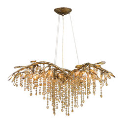 Golden Lighting - MG 6 Autumn Twilight Single Tier Chandelier With 6 Lights - Golden Lighting specializes in the design and manufacture of high quality residential lighting products and accessories.