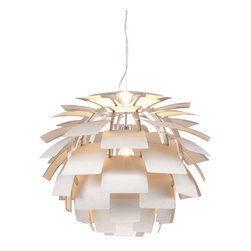 Photon Ceiling Lamp Aluminum - Zuo Photon Ceiling Lamp AluminumLike a flower blooming in the sun, the Photon ceiling lamp's aluminum petals blossom around a chrome body. The lamp is UL approved. The height is fully adjustable.Finish: Aluminum