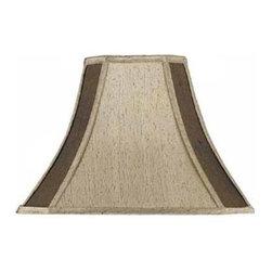 Cal Lighting - Square 2-Tone Silk Shade - Square 2-tone silk shade. Top: 7 in. x 7 in.. Bottom: 16 in. x 16 in.. Side: 11.75 in.