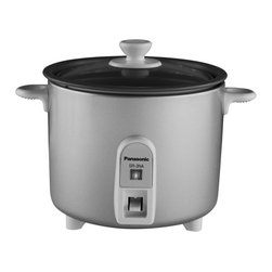 Panasonic - Mini-Rice Cooker, Non-Stick Pan with Glass Lid - 1.5-Cup uncooked rice capacity