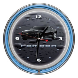 Trademark Global - Trademark Global 14 in. Black Camaro Neon Wall Clock GM1400-CAM-BLK - Shop for Wall Decor at The Home Depot. This Officially Licensed NCAA Neon Clock is a great wall display for your team. This is a very high quality double neon clock with raised bubble acrylic front cover. This clock makes a great room addition for any sports fan.