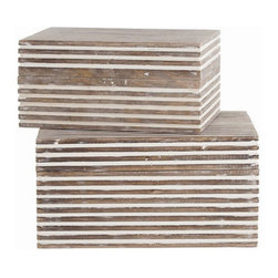 Arteriors Home - Arteriors Home Trinity Small Wooden Boxes, Set/2 - Arteriors Home 4296 - Arteriors Home 4296 - Arteriors Home strives to offer unique accessories, furniture and lighting with timeless appeal and a nod to latest trends. Everything starts with the product and it must be unique.