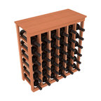 Wine Racks America - 36 Bottle Kitchen Wine Rack in Premium Redwood, (Unstained) - A small wine rack with big storage. This wine rack kit is the best choice for converting tiny spaces into big wine storage. The solid wood top excels as a table for wine accessories, small plants, and wine collectables. Store 3 cases of wine properly in a space smaller than most entry tables!