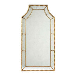Lillian August - Lillian August Staffordshire Mirror - Gold - Vintage Gold Finish and Eglomise.