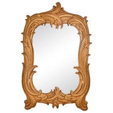One Kings Lane - Stylish Blend - Syroco Wood Draper-Style Mirror