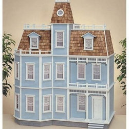 Real Good Toys Newport Dollhouse Kit - 1 Inch Scale - The Real Good Toys Newport Dollhouse Kit is a dream come true! This stately seven-room mansion is wonderful for any miniature enthusiast. It features bay windows, a balcony, and a porch for a gorgeous view, movable room dividers, wooden roof shingles, 10-inch floor-to-ceiling height rooms, detailed staircases with banisters and landing rail, a raised-panel door, roof cresting for an interesting flair to the rooftop, shaped solid wood moldings, and a mansard roof for extra living space.Recommended assembly supplies:HammerFine-toothed sawGluesUtility knifeMasking tapeSandpaper: 100 and 320 gritPaintsPaint brushesRulerElastic bandsStep-by-step instructions with detailed drawings are included. Paint, glue, curtains, and any landscaping or furnishings are not included.Overall dimensions include items that protrude, such as roof cresting. This item is not recommended for children under 3 years.About Real Good ToysBased in Barre, Vt., Real Good Toys has been handcrafting miniature homes since 1973. By designing and engineering the world's best and easiest-to-assemble miniature homes, Real Good Toys makes dreams come true. Their commitment to exceptional detail, the highest level of quality, and ease of assembly make them one of the most recommended names in dollhouses. Real Good dollhouses make priceless gifts to pass on to your children and your children's children for years to come.