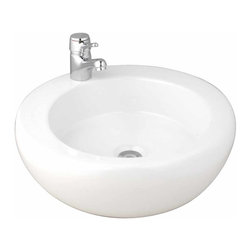 The Renovators Supply - Vessel Sinks White Gibraltar Vessel Sink | 10685 - White vitreous china Gibraltar Vessel Sink base.