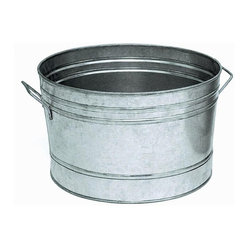 Round Galvanized Steel Planter Tub