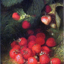 """Robert Spear Dunning Strawberries - 16"""" x 24"""" Premium Archival Print - 16"""" x 24"""" Robert Spear Dunning Strawberries premium archival print reproduced to meet museum quality standards. Our museum quality archival prints are produced using high-precision print technology for a more accurate reproduction printed on high quality, heavyweight matte presentation paper with fade-resistant, archival inks. Our progressive business model allows us to offer works of art to you at the best wholesale pricing, significantly less than art gallery prices, affordable to all. This line of artwork is produced with extra white border space (if you choose to have it framed, for your framer to work with to frame properly or utilize a larger mat and/or frame).  We present a comprehensive collection of exceptional art reproductions byRobert Spear Dunning."""