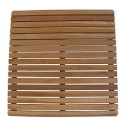 Anderson Teak - Square Shower Mat - it is perfect companion for your Jacuzzi, shower tub, spa, or even door mat.