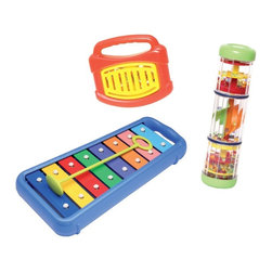 Edushape - Edushape Musical Voyage Multicolor - HL3003 - Shop for Toy Instruments from Hayneedle.com! The Edushape Musical Voyage is a set of three instruments to teach children about rhythm and music. The set includes Edushape's popular tuned xylophone. About EdushapeEstablished in 1983 Edushape is a family-owned and -operated company with a focus on manufacturing quality children's toys and products. Edushape is committed to producing soft safe quality children's toys that promote successful developmental learning through play.
