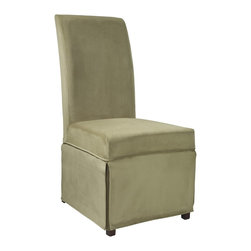 """Powell - Powell Basil Green Velvet Skirted """"Slip Over"""" Slipcover X-Z062-147 - Designed exclusively for our """"Slip Over"""" Seating, this soft, inviting slipcover retains its smooth fit and removes easily for cleaning or changing. The Basil Velvet Skirted """"Slip Over"""" is a great way to make your existing furniture new and different. Featuring Basil Green Velvet solid pattern fabric - 70% polyester, 30% rayon, this """"Slip Over"""" is appealing and attractive and would make a great addition to your home.  For use with 741-440 chair."""