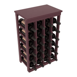 Wine Racks America - 24 Bottle Kitchen Wine Rack in Ponderosa Pine, Burgundy + Satin Finish - Petite but strong, this small wine rack is the best choice for converting tiny areas into big wine storage. The solid wood top excels as a table for wine accessories, small plants, or whatever benefits the location. Store 2 cases of wine in a space smaller than most televisions!