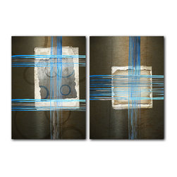 READY2HANGART.COM - Ready2hangart Alexis Bueno Abstract 2-PC Canvas Wall Art Set - This over sized abstract canvas art set is the perfect addition to any contemporary space. It is fully finished, arriving ready to hang on the wall of your choice.